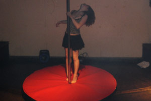 dancing pole hire
